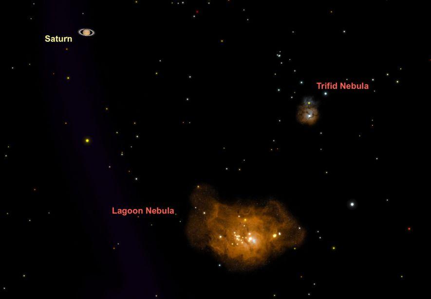 La nebulosa de la Laguna, una de las favoritas de los astrónomos observacionales de todo el ...