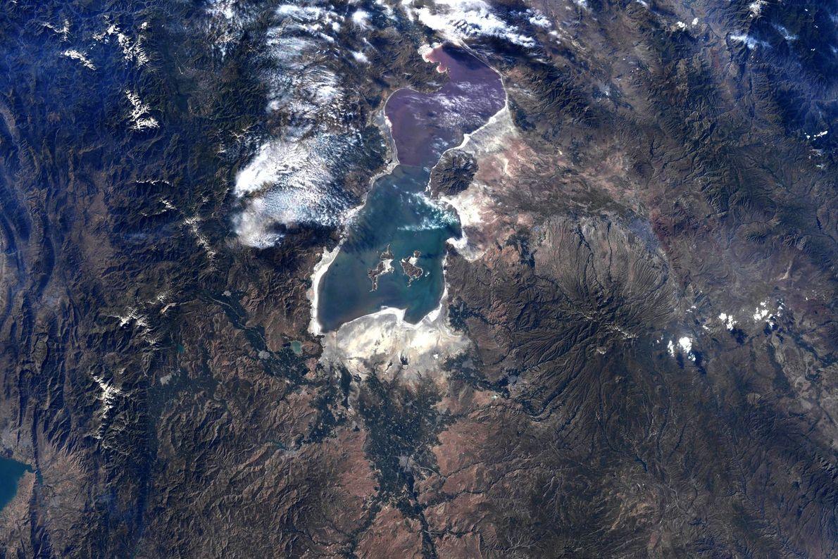 Fotografía del lago Urmia, Irán