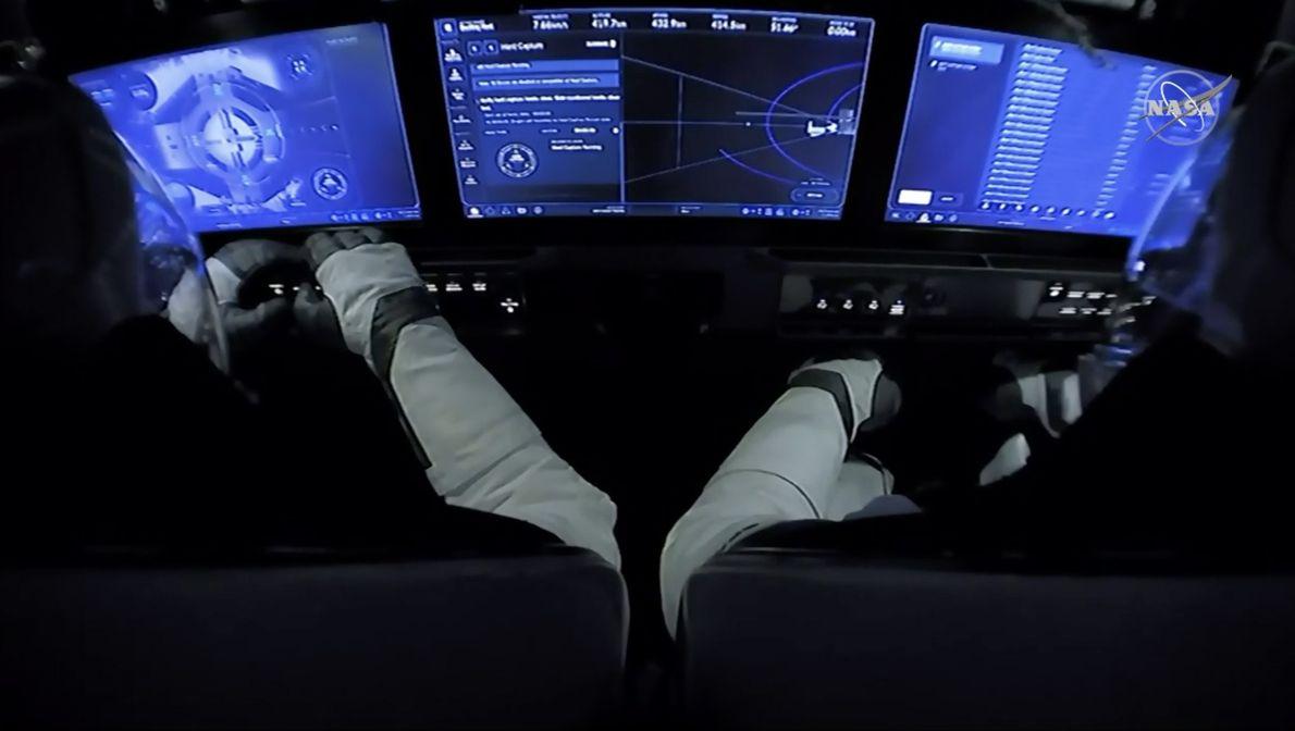 Interior de la Crew Dragon