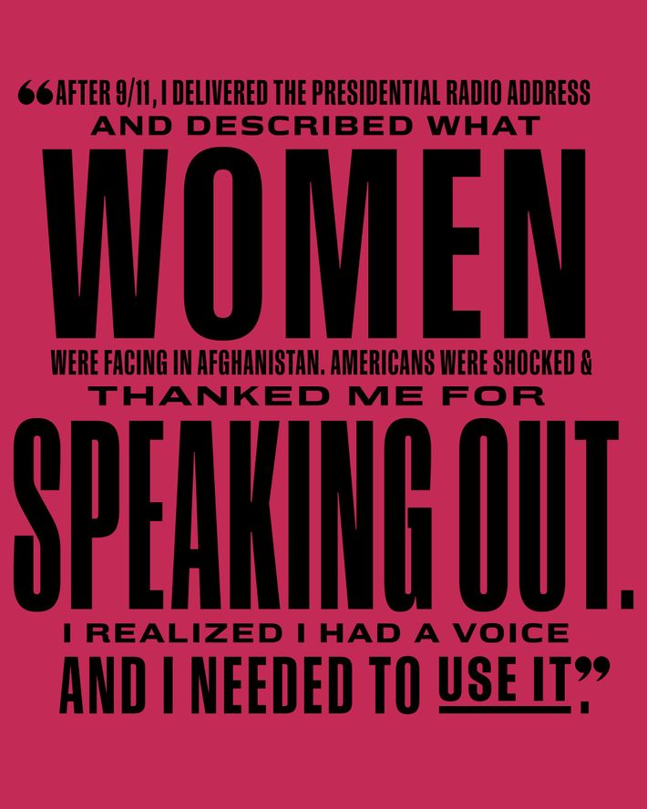 Women speaking out.