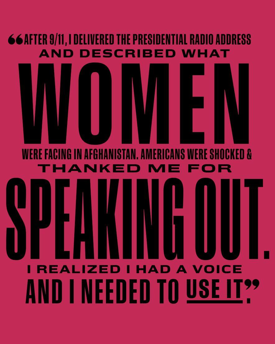 Mensaje de Laura Bush.