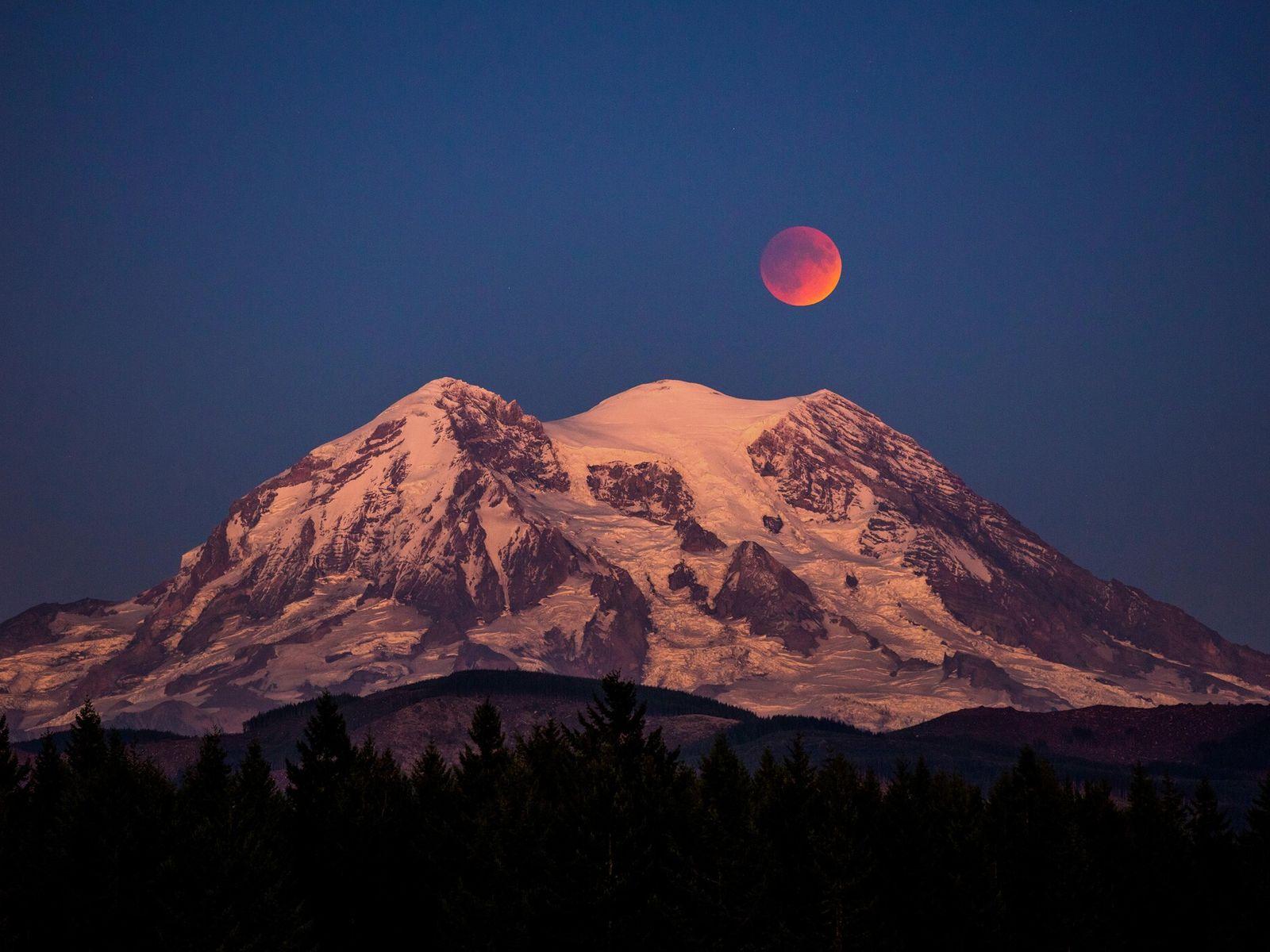 Imagen de la luna de sangre