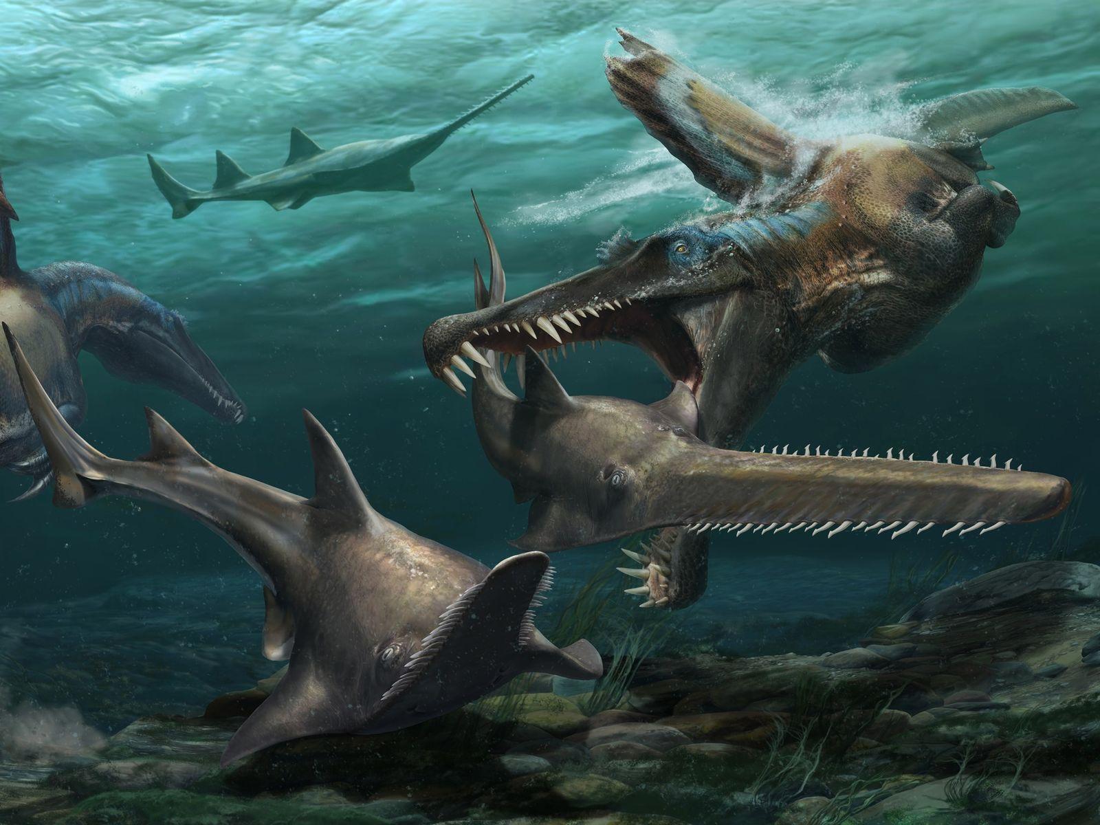 Spinosaurus cazando