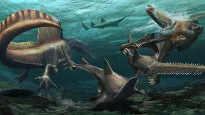 El hallazgo de nuevos restos fósiles del Spinosaurus reescribe la historia de la evolución de los ...