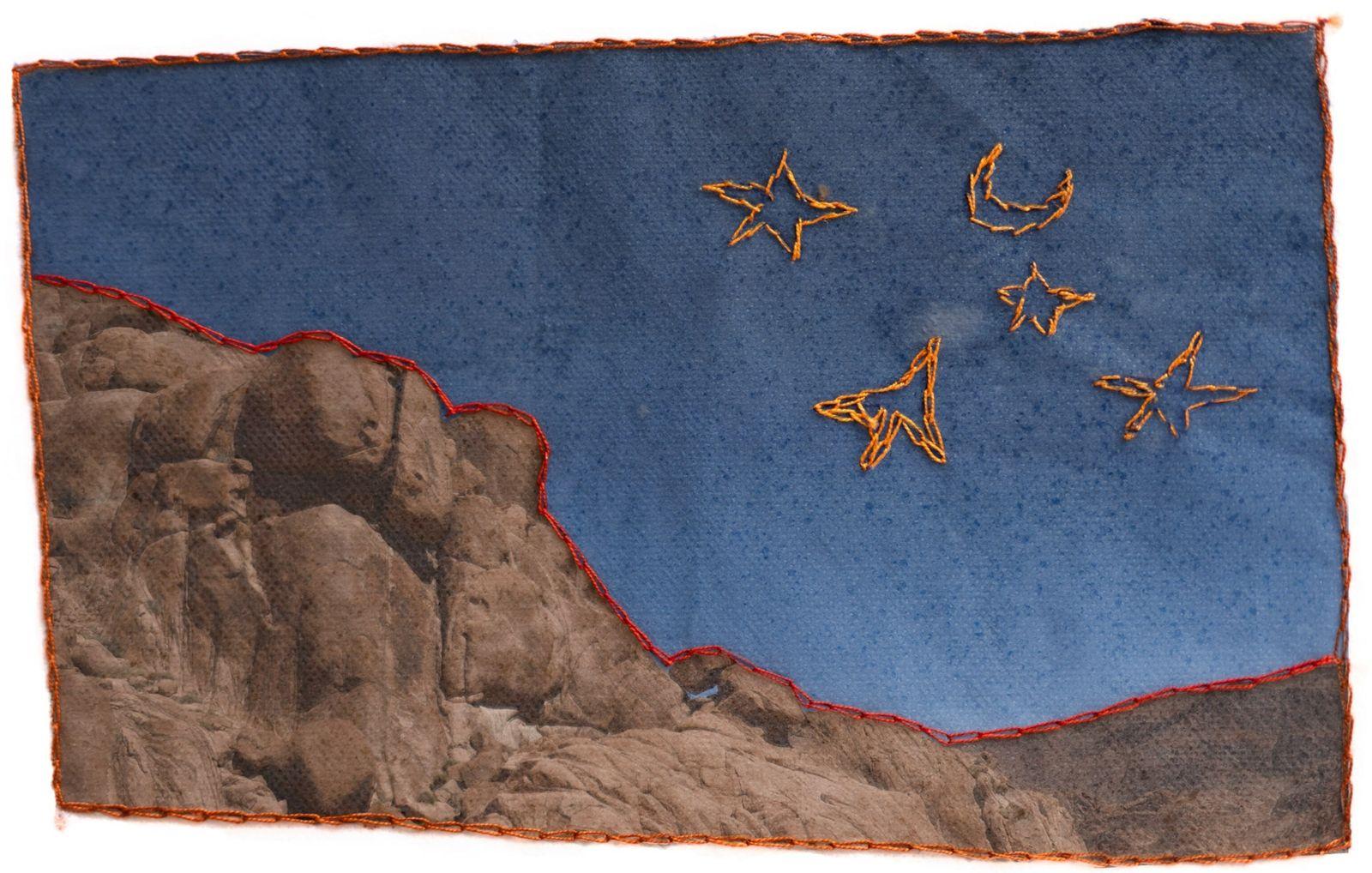 Una fotografía bordada de Jebel Al Banat
