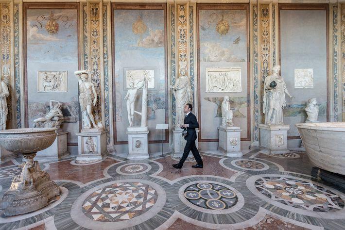La Galería de las Estatuas y la Sala de los Bustos