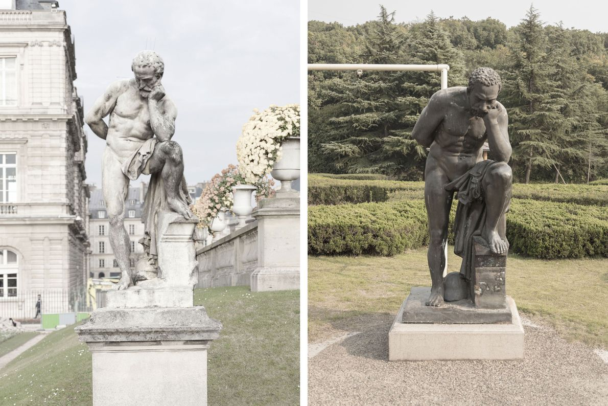 Una estatua de mármol