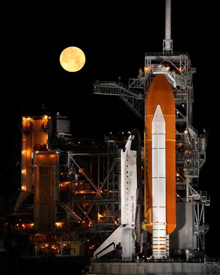 El transbordador espacial Discovery