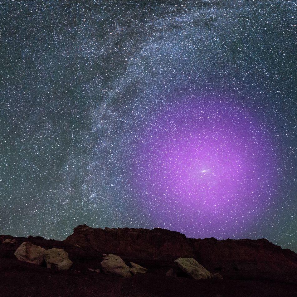 Los halos galácticos de la Vía Láctea y Andrómeda entran en colisión
