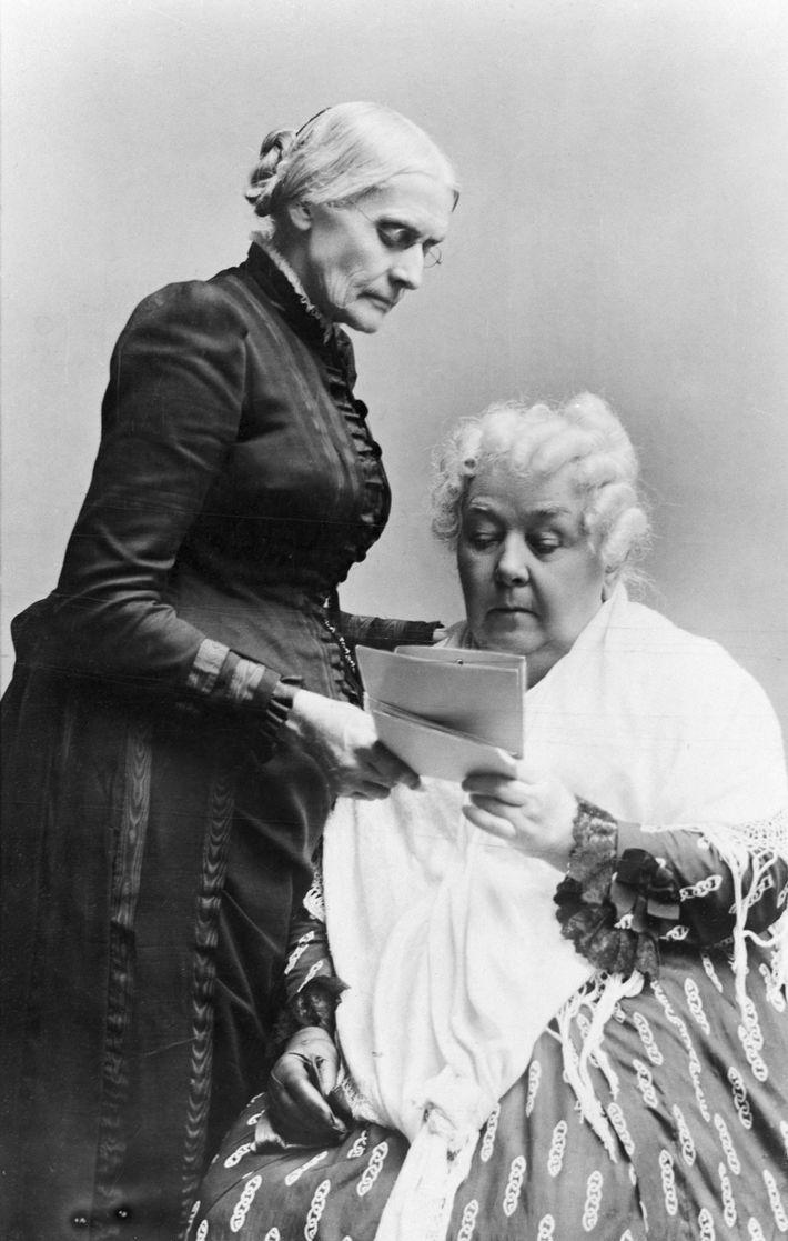 Susan B. Anthony y Elizabeth Cady Stanton