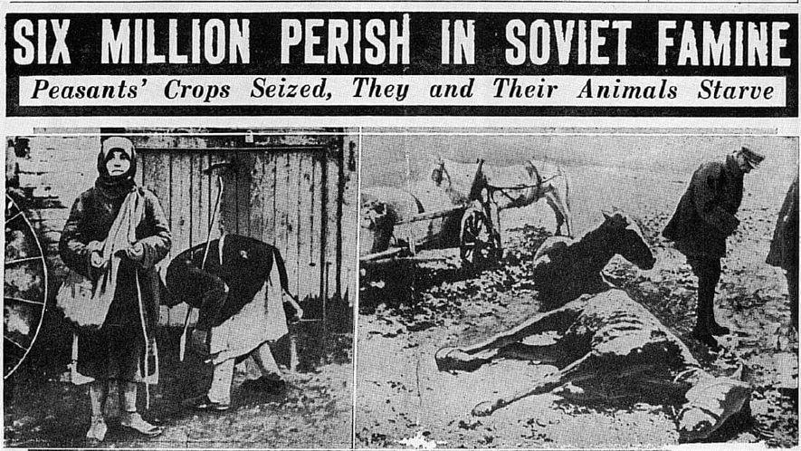 Los titulares de la prensa libre se hicieron eco de los millones de campesinos soviéticos que ...