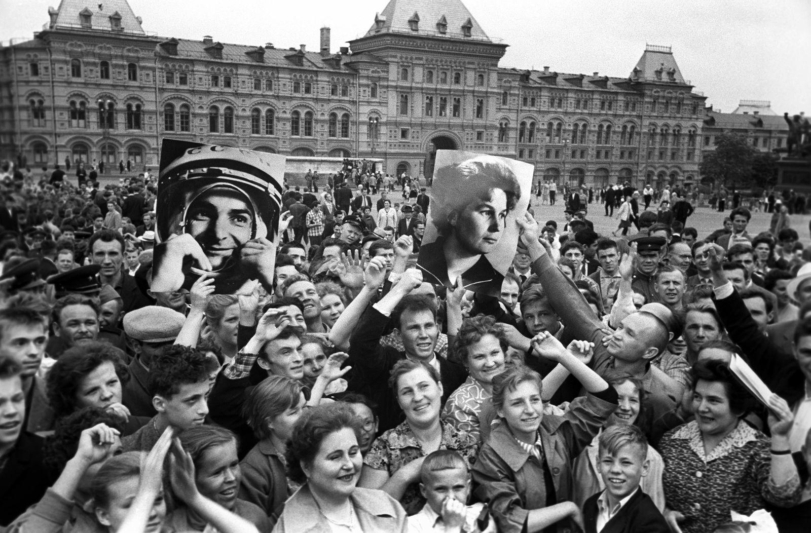 Celebración en la Plaza Roja