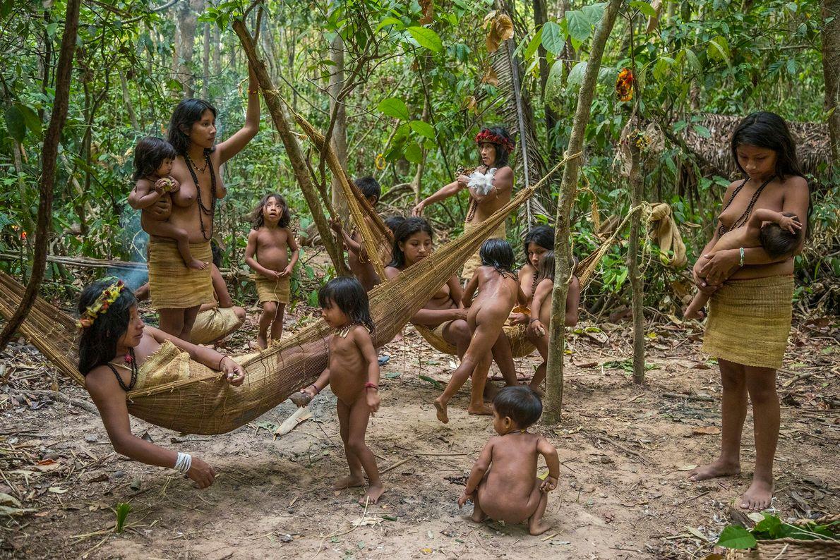 Cinco familias de Posto Awá