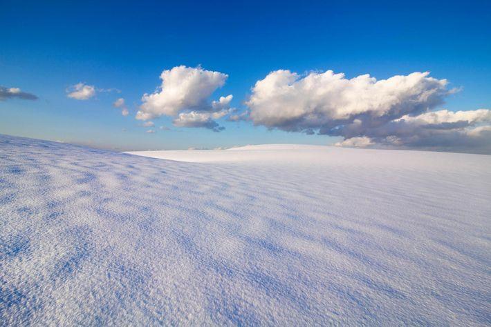 Nieve en las dunas