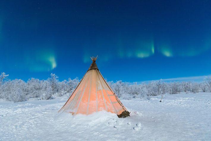 Una tienda sami tradicional