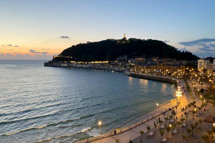 Fotografía de la playa de La Concha en San Sebastián