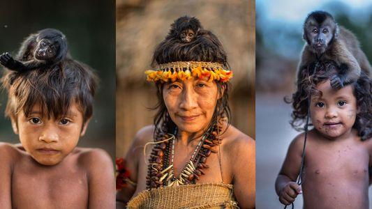 Estas fotografías muestran el vínculo entre monos y pueblos indígenas