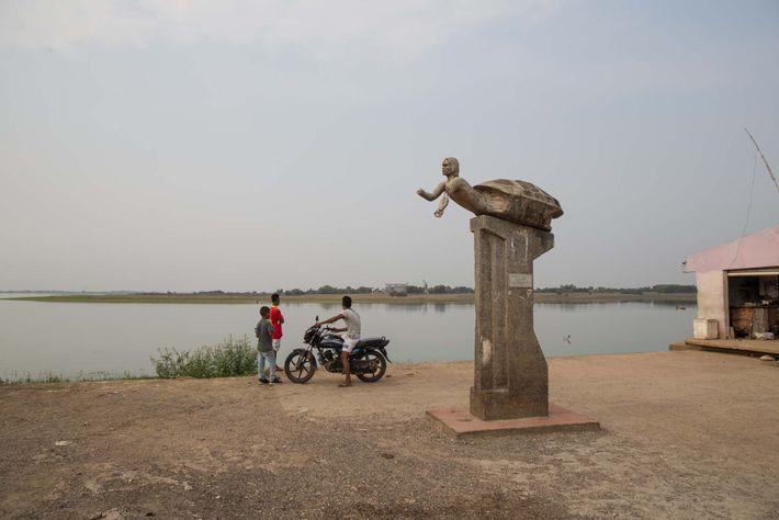 Estatua de tortuga