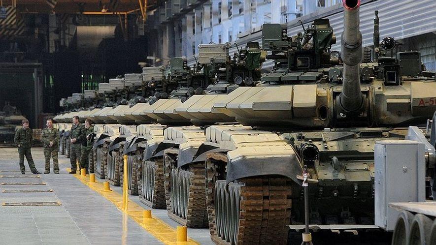 Una fabrica rusa de carros de combate hoy en día.