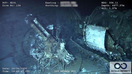 Los restos del USS Nevada