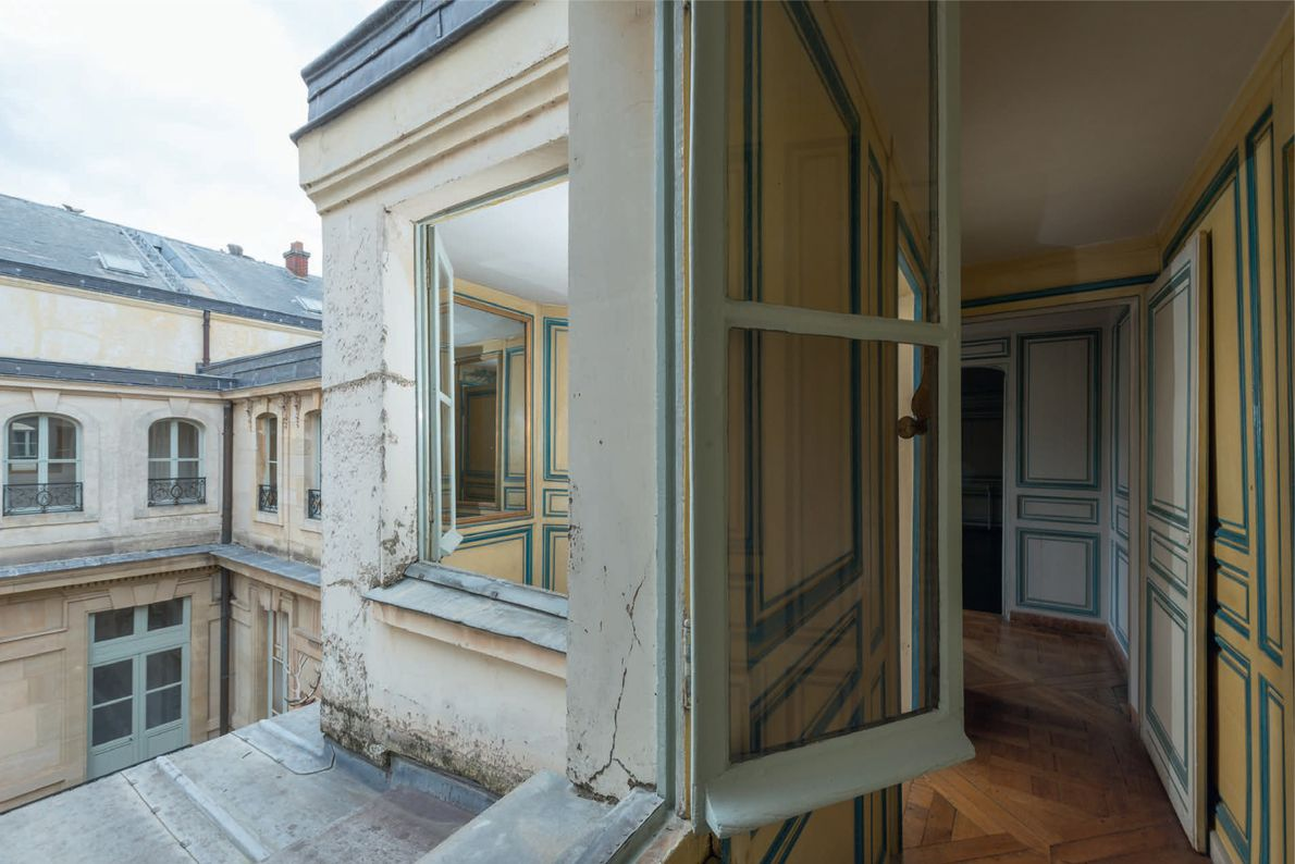 On the opposite side of the mistresses' apartments, the rooms have a view of Stags' Courtyard—a ...