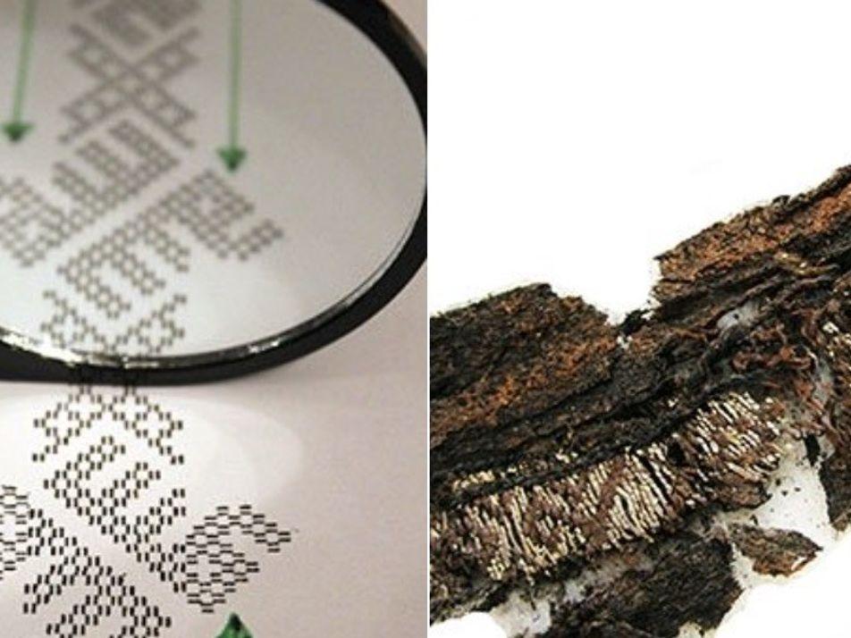 Descubierta caligrafía árabe tejida en ropas funerarias vikingas