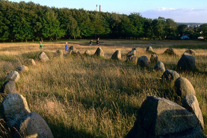 Cementerio vikingo en Dinamarca