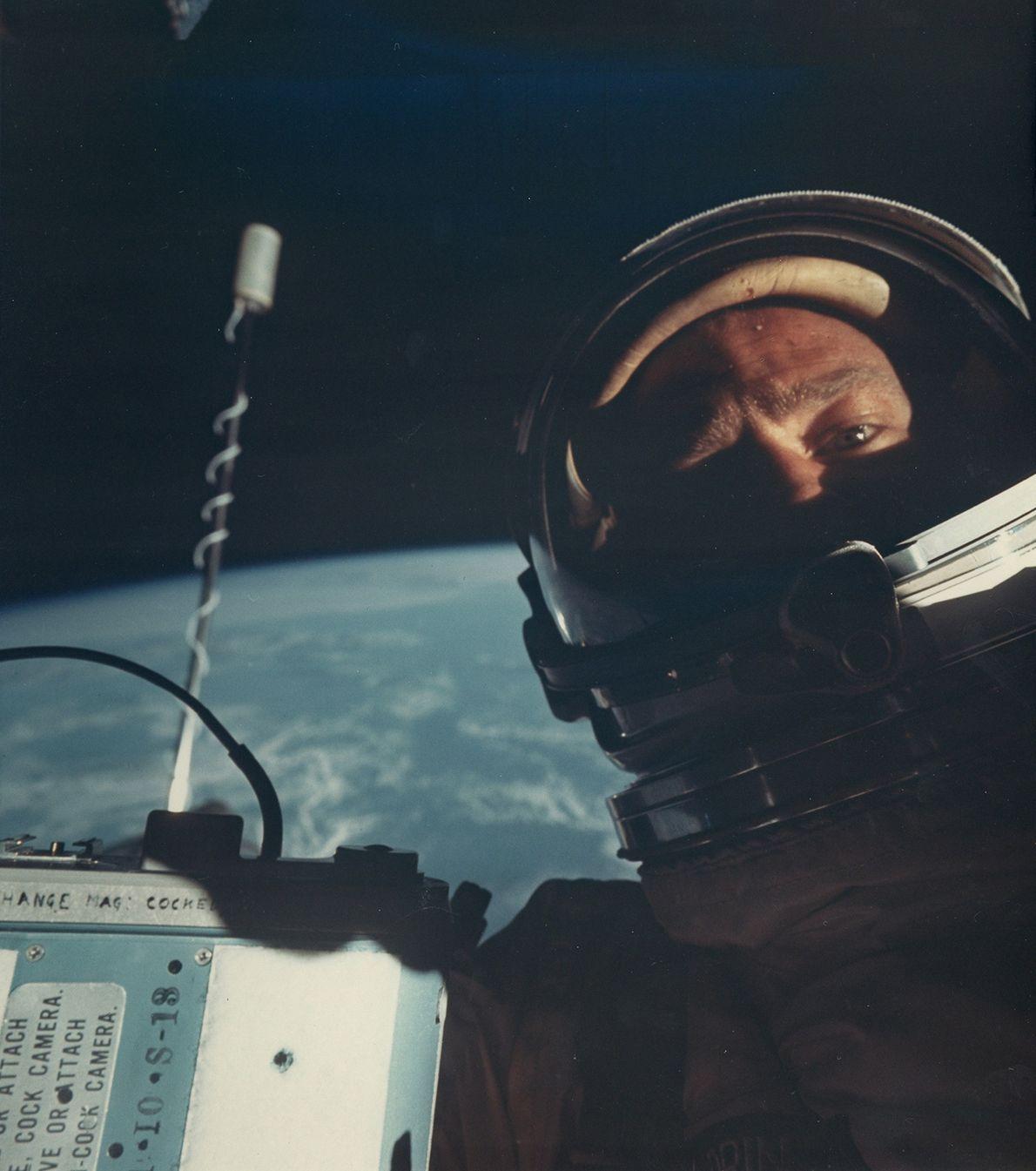 El astronauta estadounidense Buzz Aldrin
