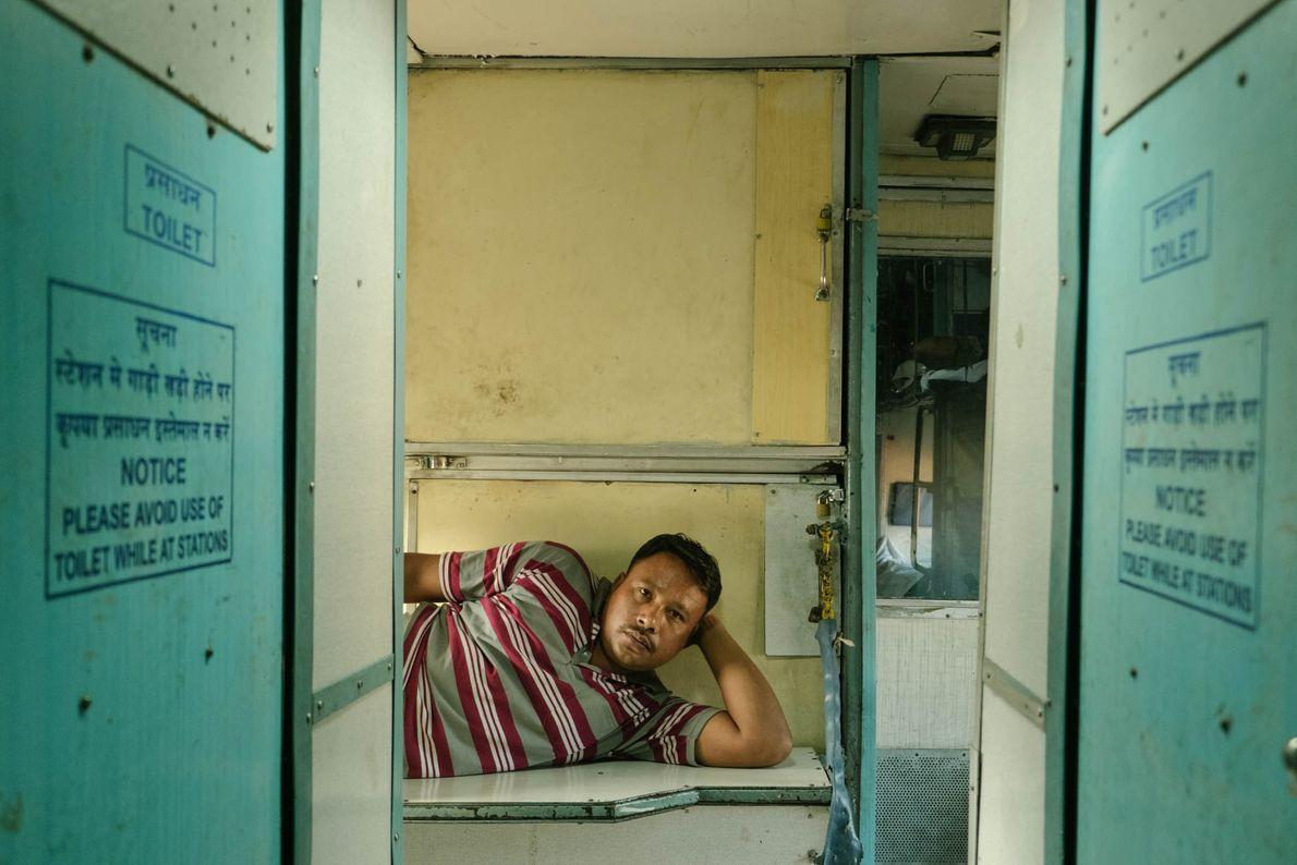 Descansando entre vagones