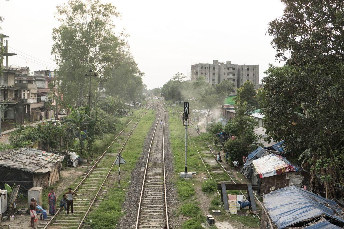 Las vías de tren en Dibrugarh