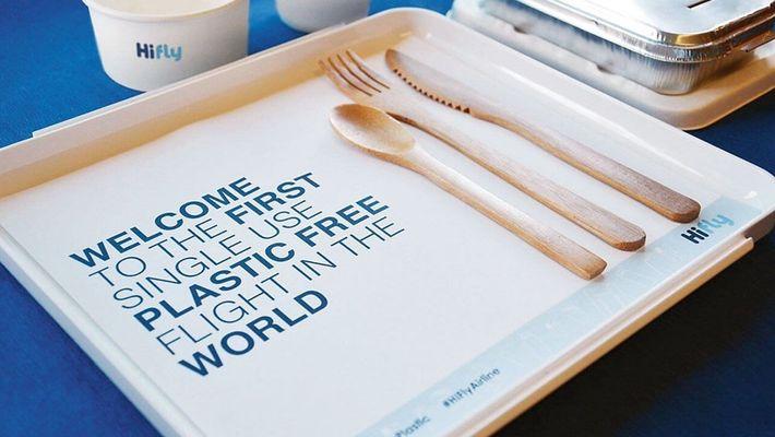 Vuelo plastic free