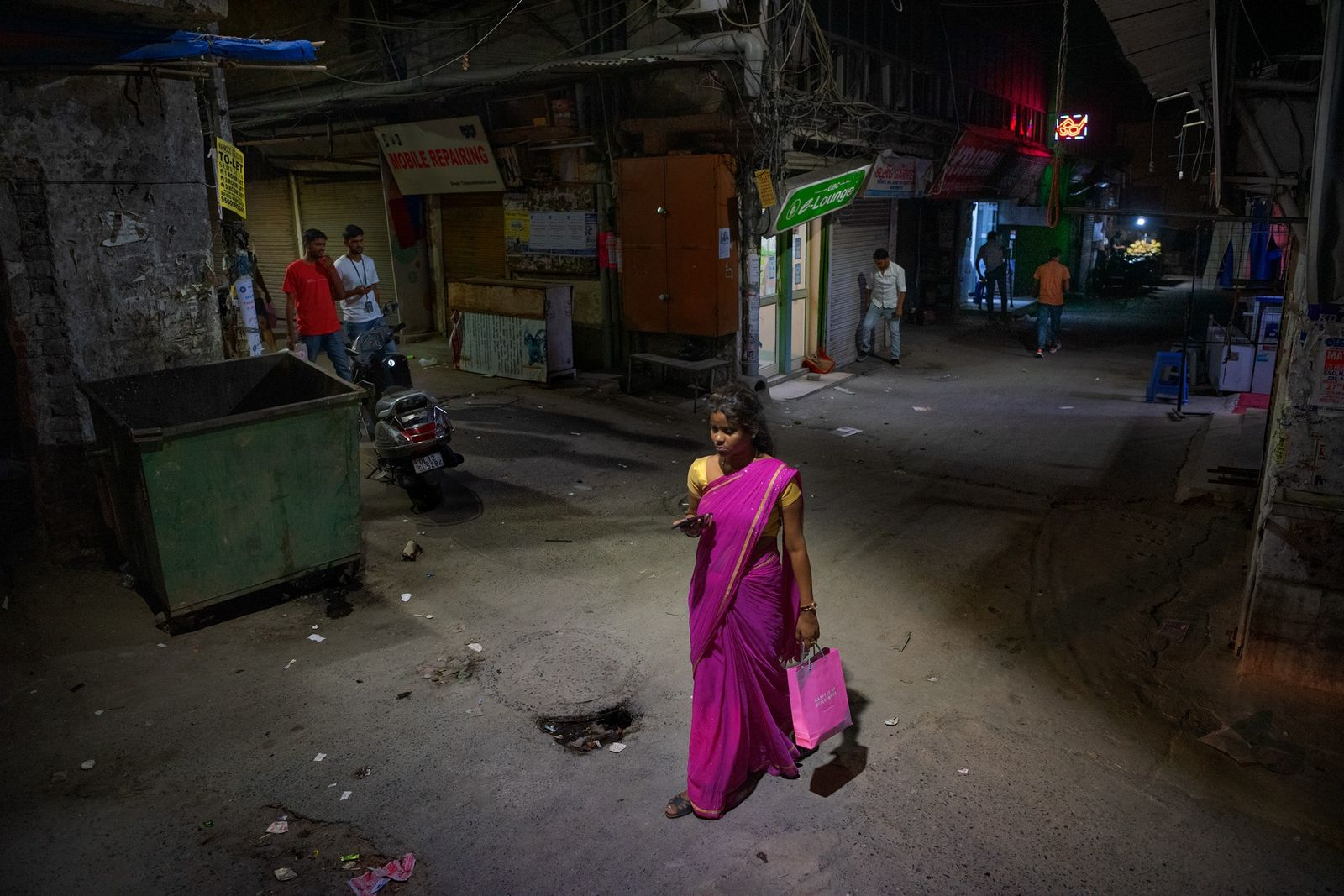 Mujer en Nueva Delhi