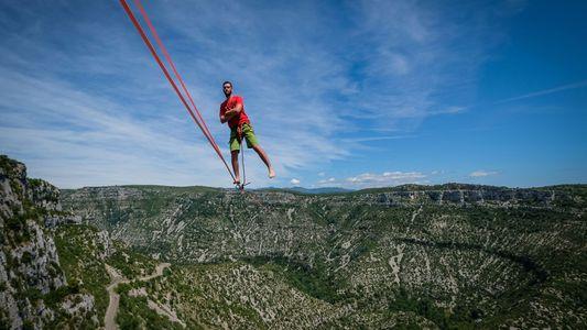 El récord mundial de «highline» en imágenes