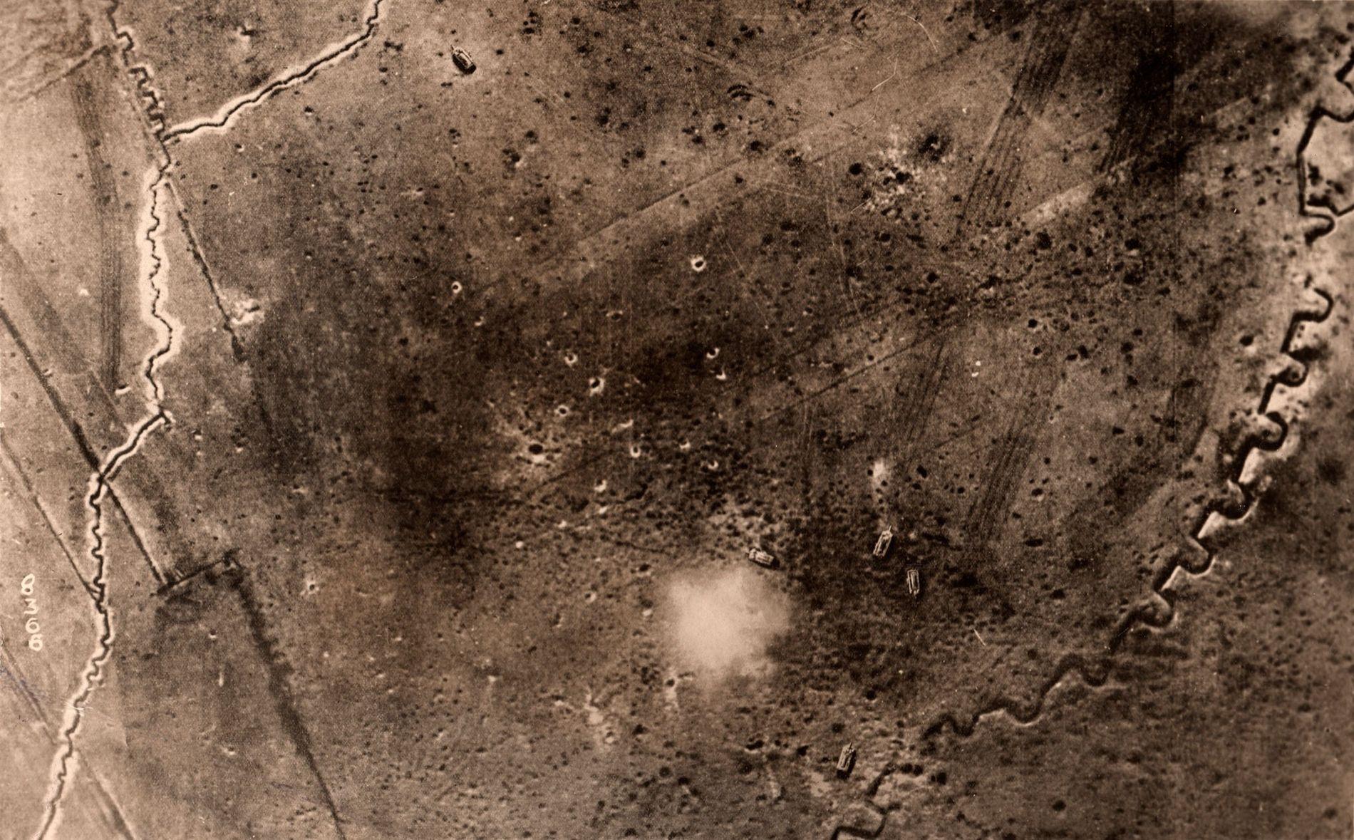Los arqueólogos se basan en fotografías aéreas sacadas durante la Primera Guerra Mundial para reconstruir el ...