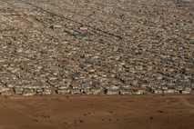 Imagen aérea del campo de refugiados de Zaatari