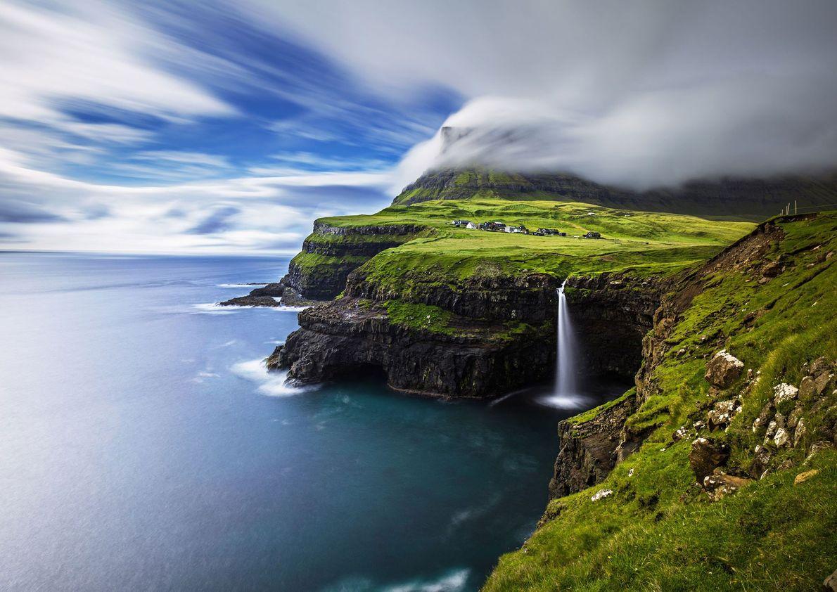 Cascada Múlafossur, islas Feroe