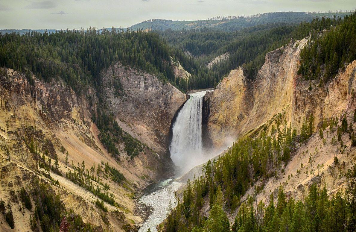 Cataratas Upper Yellowstone, Wyoming