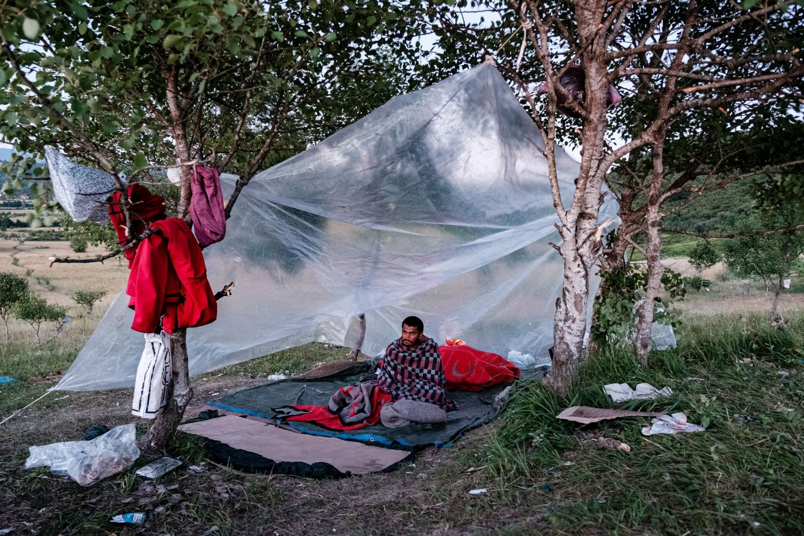 Campamento de migrantes en Bosnia
